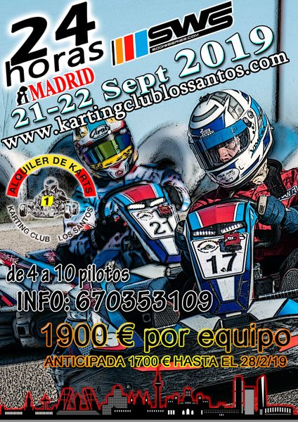 24 horas SWS de Karting Madrid 2019
