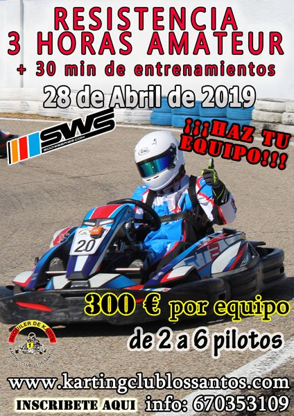 3 Hours SWS Endurance Karting Madrid