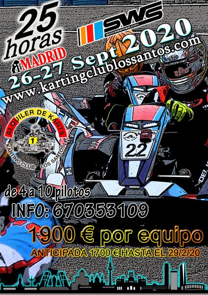 25h SWS Karting Madrid